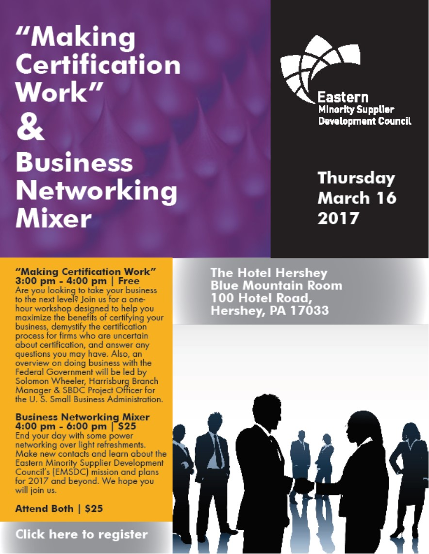Pennsylvania diversity coalition 03172017 making certification 03172017 making certification work workshop business mixer hersheypa 1betcityfo Choice Image